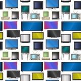Fernsehvektorschirm lcd-Monitor und Notizbuch, Tablet-Computer, Retro- Schablonen Fernsehen der elektronischen Geräte sortiert in stock abbildung