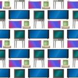 Fernsehvektorschirm lcd-Monitor und Notizbuch, Tablet-Computer, Retro- Schablonen Fernsehen der elektronischen Geräte sortiert in stockbilder