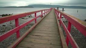 Fernwood Dock Dolly Shot, Salt Spring Island, BC, 4K. UHD stock video footage