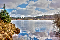 Fernworthy Reservoir. Close to the pretty Dartmoor town of Chagford and home to a wide variety of birds and wildlife, Fernworthy is a great place to visit Royalty Free Stock Photos