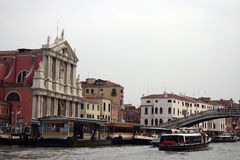 Ferovia, station de taxi, Venise, Italie Photo stock
