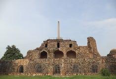 Feroz Shah Kotla, Дели, Индия Стоковая Фотография RF