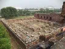 Feroz Shah Kotla, Дели, Индия Стоковое фото RF
