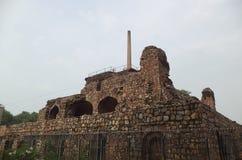 Feroz Shah Kotla, Дели, Индия Стоковые Изображения