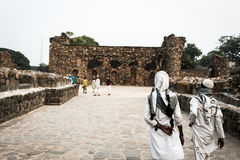 Feroze Shah Kotla宫殿(Dehli,印度) 库存照片