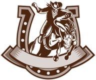 Ferradura do cavalo do cowboy do rodeio ilustração royalty free