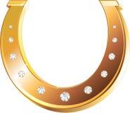 Ferradura dourada Imagem de Stock Royalty Free