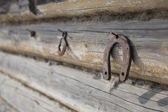 Ferradura oxidada Imagens de Stock
