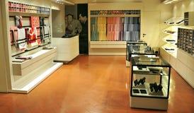 Ferragamo luxury fashion store Stock Photo