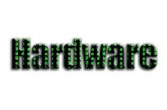 ferragem A inscrição tem uma textura da fotografia, que descreve os símbolos verdes do pulso aleatório ilustração do vetor