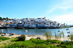 Ferragudo in the algarve Stock Photo