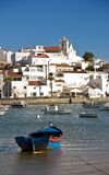 Ferragudo with fishing boat Royalty Free Stock Photo