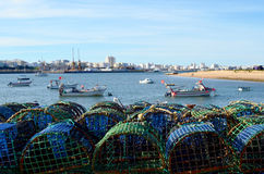 Ferragudo fishing village in algarve Stock Photos