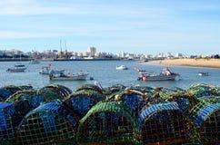 Ferragudo fishing village in algarve stock photos