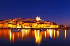 Ferragudo at night in Portugal Royalty Free Stock Image