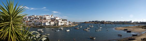 Ferragudo panorama 01 Royalty Free Stock Image