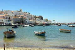 Ferragudo, Portogallo in Algarve Immagine Stock