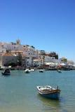 Ferragudo, Portugal en Algarve Imagenes de archivo