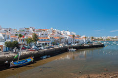 Ferragudo, Portugal. Little fisher and turistic town in Algarve Royalty Free Stock Images