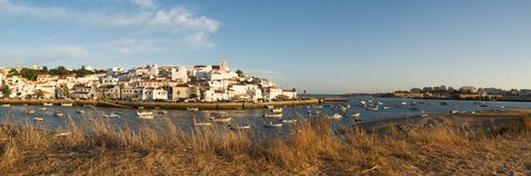 Ferragudo at sunset Stock Photos
