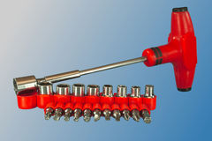 Ferramenta, chaves inglesas e chaves de fenda universais Fotografia de Stock