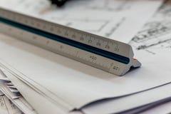 Ferramenta da arquitetura da escala Fotografia de Stock Royalty Free