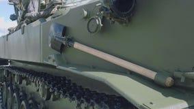 Ferramenta da fortificação de campo a bordo 1B119-1 do veículo da observação da artilharia do reostato -1 e de controle do fogo d video estoque