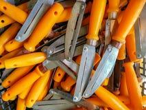 Ferramenta de aço inoxidável do cortador da faca fotos de stock