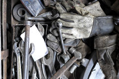 A ferramenta de funcionamento velha Foto de Stock Royalty Free