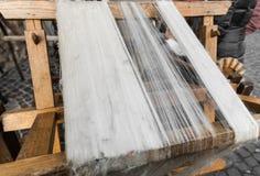 Ferramenta de madeira manual usada à seda de rotação fotografia de stock royalty free