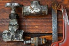 Ferramenta do trabajo em metal dos tempos da União Soviética fotografia de stock