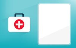 Ferramenta dos cuidados médicos do kit de primeiros socorros Imagens de Stock