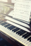 Ferramenta musical do piano, fim acima do teclado de piano, teclado de piano b Imagem de Stock