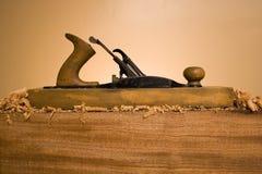 Ferramenta plana de madeira Fotografia de Stock