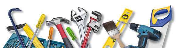 A ferramenta utiliza ferramentas a beira Foto de Stock