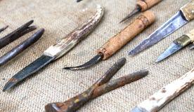 Ferramentas antigas e ferramentas 2 obsoletos do farrier Fotografia de Stock