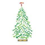 Ferramentas da árvore de Natal Imagens de Stock Royalty Free