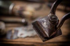 Ferramentas da barbearia do vintage imagem de stock royalty free
