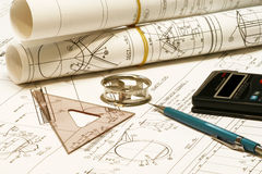 Ferramentas da engenharia Imagem de Stock Royalty Free
