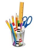 ferramentas da escrita & de desenho de +EPS Fotografia de Stock Royalty Free