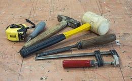 Ferramentas da mão da carpintaria Imagem de Stock