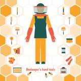 Ferramentas da mão do apicultor Imagens de Stock