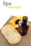 Ferramentas da massagem dos termas Fotografia de Stock Royalty Free