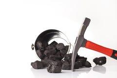 Ferramentas da mineração, setor mineiro imagem de stock