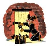 Ferramentas da noite da máscara do ladrão do ladrão Imagens de Stock