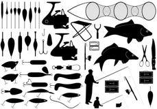 Ferramentas da pesca Imagem de Stock Royalty Free