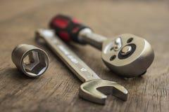 Ferramentas da reparação de automóveis Fotografia de Stock Royalty Free