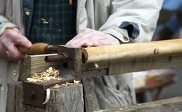 Ferramentas de funcionamento de madeira Foto de Stock Royalty Free