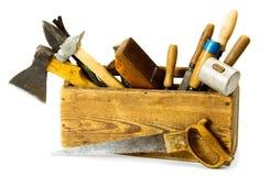Ferramentas de funcionamento (serra, machado, formão e outro) no Imagem de Stock Royalty Free
