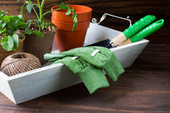 Ferramentas de jardinagem Fotos de Stock